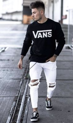 Trendy Outfits For Men - Modern Male Style And Fashion Ideas Source by cekimzy outfits mens menswear Sporty Outfits, Urban Outfits, Trendy Outfits, Fashion Outfits, Sporty Fashion, Modern Outfits, Fresh Outfits, Vans Outfit Men, Modern Mens Fashion