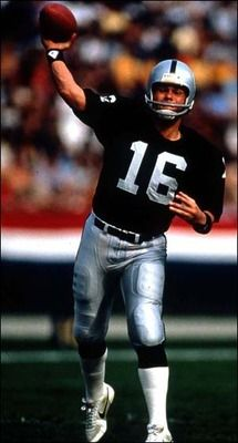 Love my RAIDERS! When the RAIDERS were the RAIDERS: Jim Plunkett won two Super Bowls as a starting Raider quarterback, which got him on the list. He had a regular-season record and finished as the Raiders' fourth-leading passer all time. Raiders Quarterback, Raiders Players, Raiders Cheerleaders, Time Raiders, Raiders Baby, Okland Raiders, American Football League, National Football League, But Football