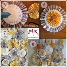 Праздничное панно из круглых вееров » Дизайн & Декор своими руками