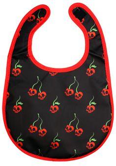 Baby Bib Rockabilly Punk Scary Cherry Vinyl