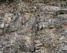 Railcuts #12 Trans Canada Highway Construction Project, Hope, British Columbia 1985. www.HopeBC.ca