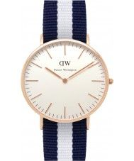 Mens Daniel Wellington Mens Classic 40mm Glasgow Rose Gold Watch 110.11 Watches2U