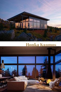 Scandinavian Log Cabins for Sale Timber Frame Homes, Timber House, Flat Pack Homes, Rustic Hardwood Floors, Log Cabins For Sale, Modern Properties, Rustic Kitchen Design, Wood Architecture, Glass Facades
