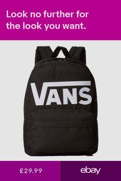 3d9c0ffb182f6 VANS Old Skool II Rucksack Black White Backpack School Casual Smart Work Bag
