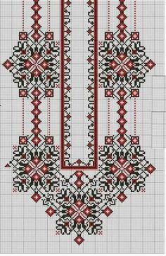 Beading _ Pattern - Motif / Earrings / Band ___ Square Sttich or Bead Loomwork ___ Cross Stitch Borders, Cross Stitch Flowers, Cross Stitch Charts, Cross Stitch Designs, Cross Stitching, Cross Stitch Patterns, Folk Embroidery, Embroidery Patterns Free, Beaded Embroidery