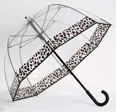 Be the first to get this Clear Cheetah print bubble umbrella at www.greatumbrellastore.com Save 15% at checkout by using coupon code GUS15