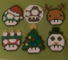 Mario Toad xmas pixel
