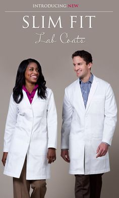 Introducing New Slim Fit Lab Coats.this will not hinder your female shape! Doctor White Coat, Doctor Coat, Work Uniforms, Staff Uniforms, Lab Coats, Medical Scrubs, Female Doctor, Pukka, Physician Assistant