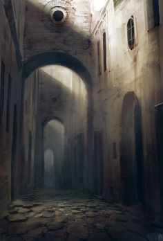 Old city, Ivan Dedov on ArtStation at https://www.artstation.com/artwork/n4Ve1