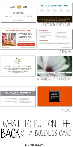 What to put on the back of business cards   Blair Blogs