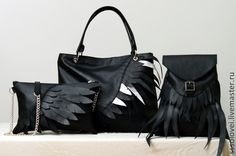 Рюкзаки ручной работы. Рюкзак Wings / кожаный черный рюкзачок. Снежана Соловей. Ярмарка Мастеров. Маленький, на плечо, пряжка