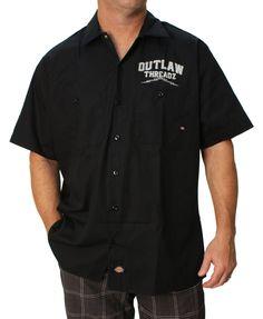 Outlaw Threadz Men's Ride Or Die Work Shirt