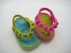 Crochet Pattern Baby Booties   Flip Flops  for Girls pattern