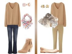 The Vivienne Files: How to wear a camel v-neck sweater