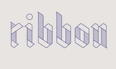 Good design makes me happy: Project Love: Ribbon Typeface