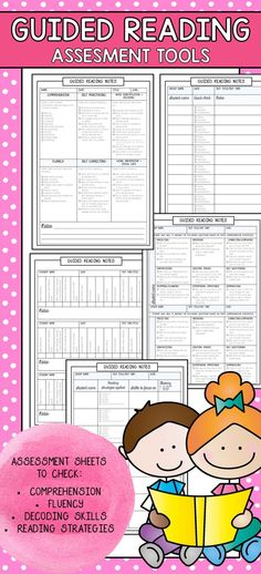 Guided Reading assessment checklists