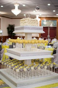 Wedding cake pops! First wedding using a three tier cake pop stand. Bling ribbon added. Made by Carmen's Sweet Creations, Maple Ridge, BC
