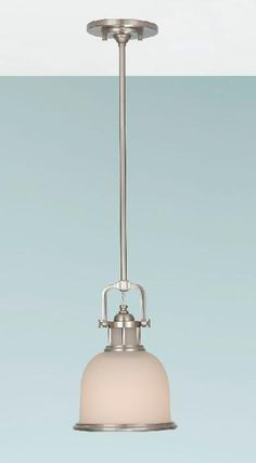 Elstead Parker Place Small Single Light Ceiling Pendant Brushed Steel | FE/PARKER/P/S BS |  Elstead Lighting | Feiss Lighting | Luxury Lighting