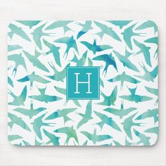 Shop Teal Watercolor Birds Pattern Mouse Pad created by heartlocked. Office Stationery, Bird Patterns, Custom Mouse Pads, Watercolor Bird, Animal Skulls, Personalized Stationery, Corner Designs, Marketing Materials, Office Gifts