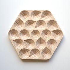 Wooden Trivet & Centerpiece Drops Plywood Birch by ObjectsbyMedio