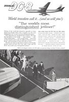 Douglas DC-8 Travelers 1960 Ad Picture