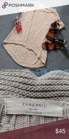 Zara Tan Brown Knit Cardigan Sweater Top Small Zara Size Small TAN/BROWN Super cute knit sweater goes with so many different spring  outfits! Like New Condition Zara Sweaters Cardigans