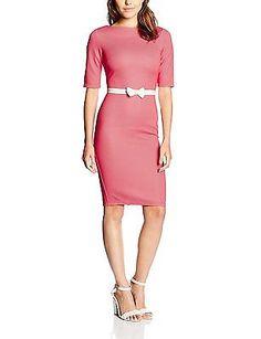 10, Orange (Coral), Paper Dolls Women's Bow Waist Dress NEW