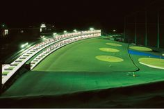"""LEDioc Flood BLITZ"" (400W) installation at a driving range, Japan.    ""LEDioc Flood BLITZ is a range of high-powered LED floodlights, designed for large outdoor applications."