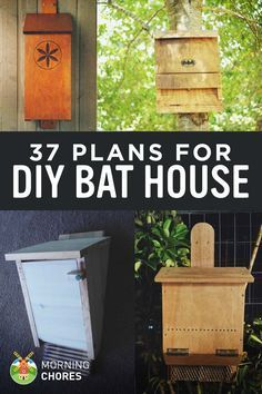Builds up to 16000 Carpentry Projects - 37 Free DIY Bat House Plans that Will Attract the Natural Pest Control (and Save Their Lives) Builds up to 16000 Carpentry Projects - Get A Lifetime Of Project Ideas and Inspiration! Bat Box Plans, Bat House Plans, Bird House Kits, Build A Bat House, Garden Projects, Wood Projects, Carpentry Projects, Garden Pests, Garden Planning