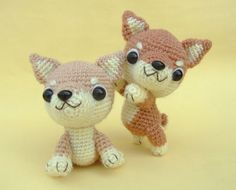 Shiba Inu chiot  PDF Crochet Pattern par jaravee sur Etsy