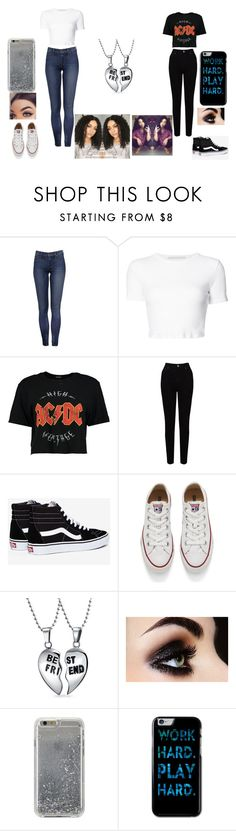 """Untitled #79"" by sydneyhahah ❤ liked on Polyvore featuring beauty, Rosetta Getty, Boohoo, EAST, Vans, Converse, Bling Jewelry and Agent 18"