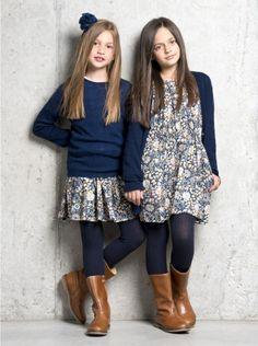 Miller Girls Pavo Dress in Blue | Elias & Grace | ELIAS & GRACE £80.00   Now £32.00  Save 60%
