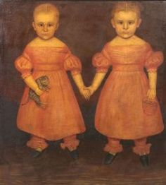 Attributed to Joseph Goodhue Chandler (Massachusetts and New York, 1813-1884) Portrait of the Dibble Twins, | Sale Number 2242, Lot Number 8...