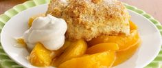 Just like Grandma used to make! Tender biscuits top a bubbly peach filling.