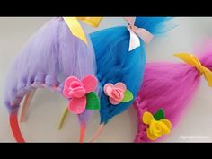DIY Troll Hair Headbands WOW. These bright and colorful DIY Troll Hair Headbands are so simple and easy to make they only take 20-30min.
