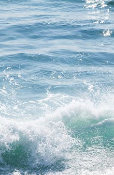 The sight of clear blue water calms me down...