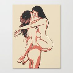 Sexy Erotic Art Canvas Print - Girls love to play Dirty, lesbian girls artwork #canvas #home #decor #cool #artistic #stylish #design #sexy #adult #topless #girl #nude #erotic #kinky #fetish #prints #drawing #sketch #naughty #dirty #mature #lesbians #gay #bisexual #sexuality