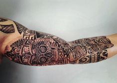 Tattoo Maze - A wonderful place for all things Tattoo's Aztec Tattoo Designs, Aztec Warrior, Sleeve Tattoos, Design Trends, Henna, Skull, Ink, Pattern Tattoos, Nutrition