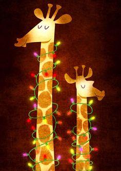 Giraffes love the bright lights! <3 Twinkle Twinkle Little Stars! <3 <3 <3