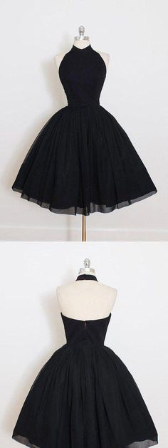 High Neck Black Tulle Homecoming Dresses ,Short Homecoming Dresses, Shop plus-sized prom dresses for curvy figures and plus-size party dresses. Ball gowns for prom in plus sizes and short plus-sized prom dresses for Unique Homecoming Dresses, Hoco Dresses, Dance Dresses, Cute Dresses, Vintage Dresses, Beautiful Dresses, Formal Dresses, Homecoming Dresses Long, Unique Dresses Short
