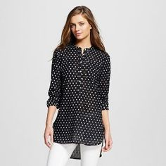 Women's Mandarin Collar Clipspot Favorite Tunic - Merona™