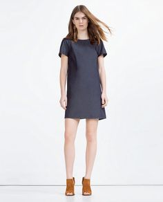 FLOWING DENIM DRESS from Zara