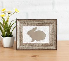 Decorate this Easter with a framed bunny!
