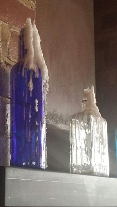 My photography of empty bottles and candle wax #1