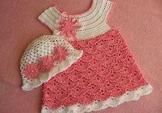 Tutorial and pattern pink crochet dress 1 - Crochet Baby