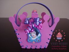 24 Pink Crown Princess Candy Goodies by VeryberryParty on Etsy, $144.00