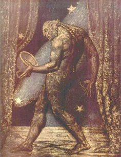 William Blake - The Ghost of a Flea, 1819–1820. Having informed painter-astrologer John Varley of his visions of apparitions, Blake was subsequently persuaded to paint one of them.