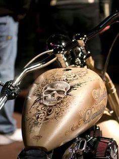 Custom Paintjob Inspirations Bobber Chopper Motorcycles Old school vintage style bike art apparel Motorcycle Paint Jobs, Motorcycle Tank, Airbrush Art, Moto Custom, Motos Harley Davidson, Cars Coloring Pages, Harley Bikes, Bobber Chopper, Hot Bikes