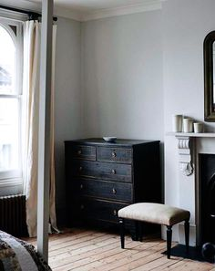 vintage black dresser. / sfgirlbybay