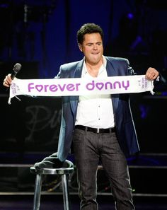Donny Osmond in Donnie And Marie Osmond Headline The Flamingo